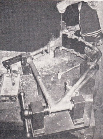 Duplex frame on brazing jig pic
