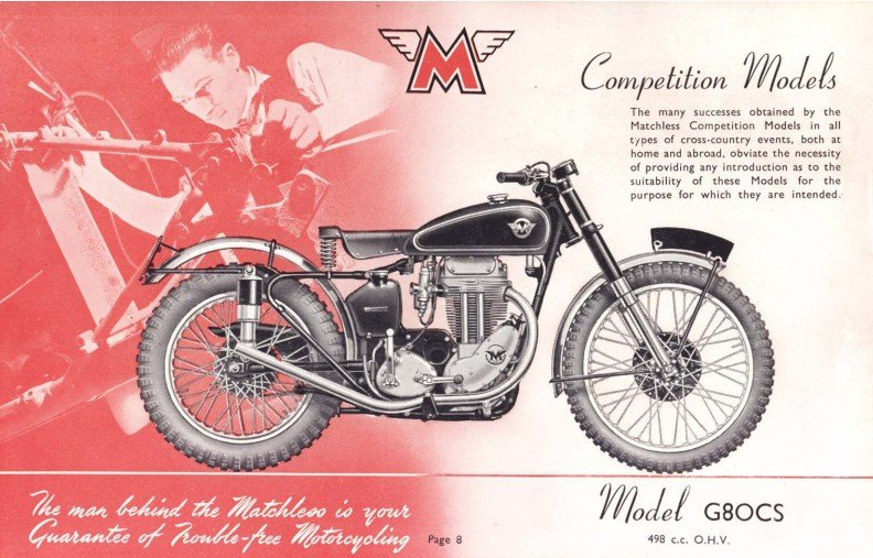 Man Behind Matchless - Competition shop