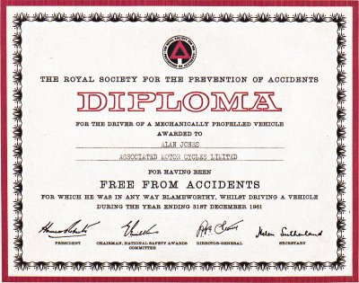 Accident free diploma pic